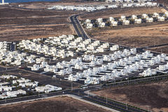 Settlement of new houses all Stock Photo