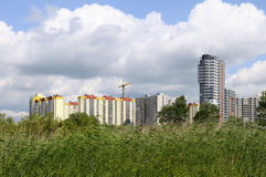 Settlement of new territories. New residential district of St. Petersburg, Russia Stock Photography