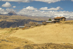 Settlement in Peru. Poor Peruvian settlement high in South American Andes Stock Image
