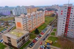 Settlement Petrzalka. Settlement Petržalka - Bratislavas concrete jungle royalty free stock photos