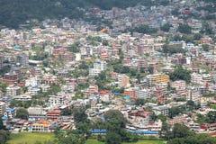 Settlement in Phokara Valley Stock Photo