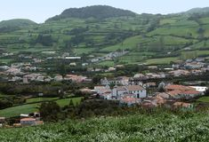 Settlement scenery at the Azores Stock Photography
