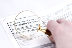 Settlement statement Royalty Free Stock Photos