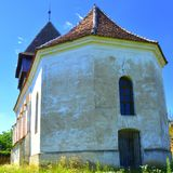 Fortified medieval saxon church in the village Rodbav, Rohrbach,  Transylvania, Romania Stock Photography