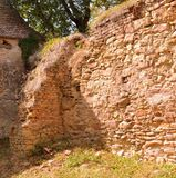 Ruins. Fortified medieval saxon evangelic church in the village Cobor, Transylvania, Romania. The settlement was founded by the Saxon colonists in the middle of Royalty Free Stock Photo