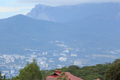 Settlements near the mountains of Crimea Royalty Free Stock Photo