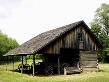 Settler's Cabin. Old settler's cabin at Forest Glen State Park in Illinois Stock Image