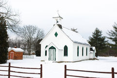 Settlers Church. A settlers church in Southern Ontario, Canada in winter Stock Images