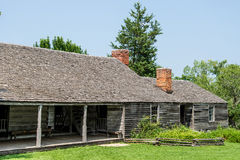 Settlers home. Dating to 1850 that is split into two homes. Taken in Missouri Town, Jackson County, Missouri Stock Photography
