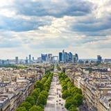 Settore commerciale della difesa della La, viale grande di Armee. Parigi, Francia Fotografia Stock