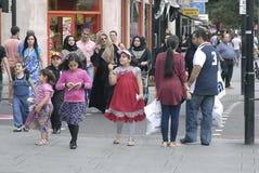 SETTORE COMMERCIALE DI ENGLAND_ARAB Fotografia Stock