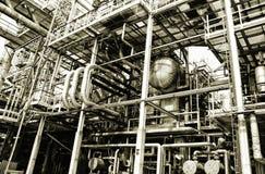 Settore produzione energia del gas e del petrolio Fotografia Stock Libera da Diritti