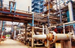 Settore produzione energia del gas e del petrolio Fotografia Stock