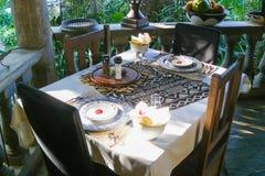 setu śniadaniowy stół Zdjęcia Stock