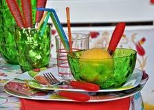setu śniadaniowy stół Obrazy Stock
