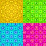 Setu cztery zabawy geometryczni wzory Zdjęcia Stock
