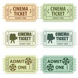 setu kinowy bilet Zdjęcia Stock