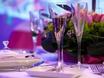 setu luksusowy stół Zdjęcia Stock