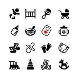 Setu 16 sieci ikona. Dziecko, osesek, dziecko Zdjęcia Royalty Free
