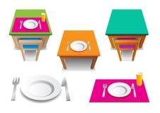setu stół Zdjęcie Stock