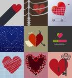 Setu 9 tła miłość Zdjęcia Royalty Free