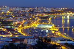 Setubal at night Stock Photo