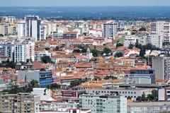 Setubal. Panorama view from Fort of Sao Filipe to Setubal city Royalty Free Stock Photos