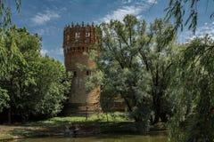 Setunskaya torn, Novodevichy kloster, Moskva Arkivbild