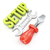 Setup concept Stock Image