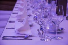 Setup decoration of wedding banquet Stock Photo