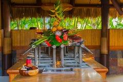 Setup for a Luau Royalty Free Stock Photo
