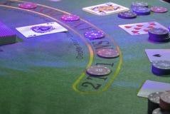 Setup for playing Blackjack at the Casino stock image