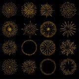 SetVector ακτίνων Στοκ εικόνες με δικαίωμα ελεύθερης χρήσης