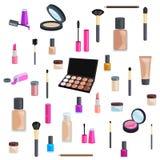 Sety kosmetyki na odosobnionym tle Zdjęcie Stock