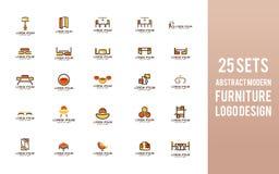 Sety Meblarski logo projekt Nowożytny wewnętrzny symbol royalty ilustracja