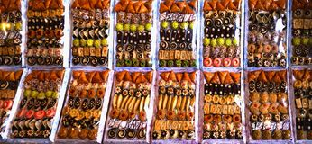 Sety orientalni cukierki, uzupełniający różnorodność torty i inni ciasta fotografia stock