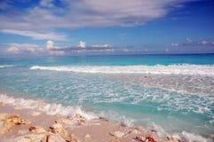 Setzen Sie Cancun/Mexiko auf den Strand Stockfoto