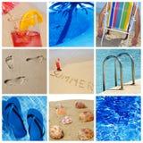 Setzen Sie Collage auf den Strand Lizenzfreie Stockfotos
