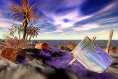 Setzen Sie den Tag nachher auf den Strand