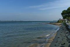 Setzen Sie in der venetianischen Lagune, Adreatic-Meer auf den Strand Stockfotos