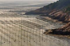 Setzen Sie in der Xiapuï ¼ Fujianï ¼ China-Landschaft auf den Strand Stockfotografie