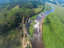 Setzen Sie die Inselwächter Hier ein Halt für Kayakers Der Fluss Mologa Stockbilder
