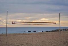 Setzen Sie am Ende des Sommers in Barcelona auf den Strand stockfoto