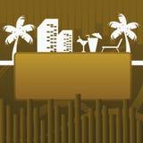 Setzen Sie Fahnenhintergrund auf den Strand Lizenzfreie Stockfotos