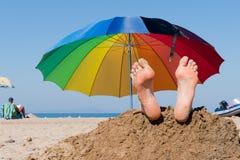 Setzen Sie Ferien auf den Strand Stockfotografie