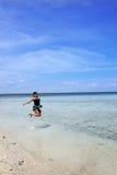 Setzen Sie Ferien auf den Strand Stockfotos