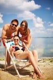 Setzen Sie Ferien auf den Strand Lizenzfreie Stockbilder
