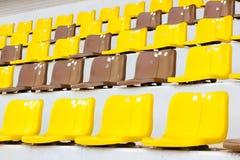 Gelbes Braun Seat-Haupttribüne Stockfotografie