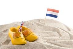 Setzen Sie in Holland auf den Strand Stockfotografie