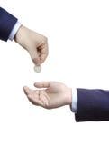 Setzen Sie Ihr Geld in sichere Hände ein Lizenzfreie Stockbilder